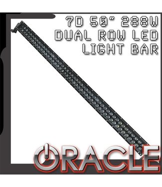 "Oracle Lighting ORACLE Black Series - 7D 50"" 288W Dual Row LED Light Bar"