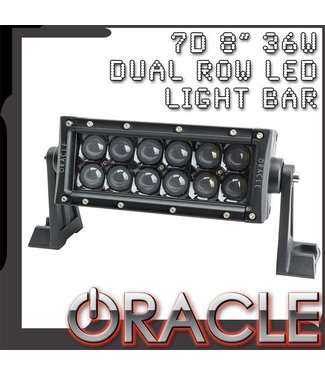 "Oracle Lighting ORACLE Black Series - 7D 8"" 36W Dual Row LED Light Bar"