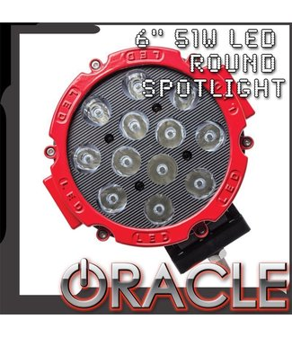 """Oracle Lighting ORACLE Off-Road 6"""" 51W LED Round Spot Light"""