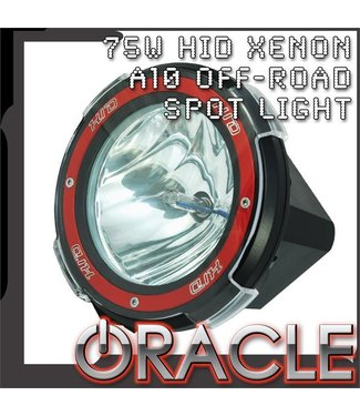 """Oracle Lighting ORACLE Off-Road A10 75W 9"""" HID Xenon Spot Light"""