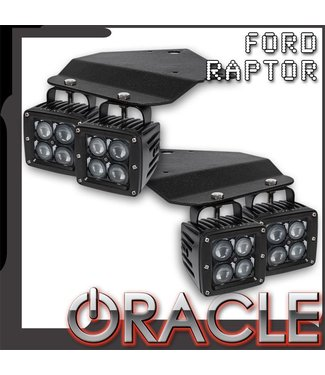 Oracle Lighting ORACLE Ford Raptor 2010-2014 Fog Light Replacement Brackets + Lights Combo