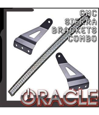 """Oracle Lighting 2007-2013 Silverado/Sierra Curved 50"""" LED Light Bar Brkt + Light Combo"""