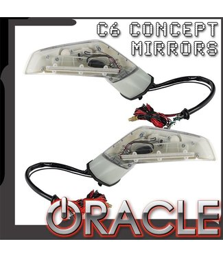 Oracle Lighting ORACLE Chevy Corvette C6 Concept Side Mirrors w/ SIRIUS/XM Satellite Antenna