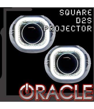 "Oracle Lighting ORACLE Square 2.75"" D2S Retrofit Projectors (Pair) - w/ Plasma Halo Kit"
