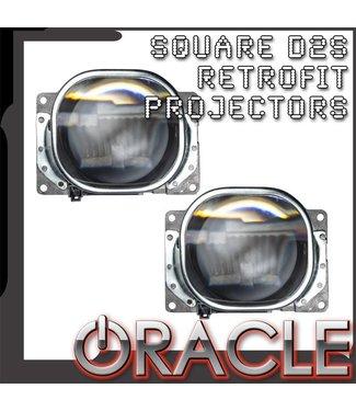 "Oracle Lighting ORACLE Square 2.75"" D2S Retrofit Projectors (Pair)"