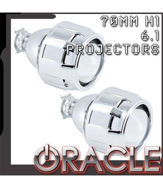 "Oracle Lighting ORACLE 2.5"" Bi-Xenon 70mm H1 6.1 Retrofit Projectors (Pair) w/ Bezels"
