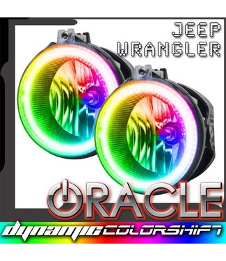 Oracle Lighting 2007-2015 Jeep Wrangler JK Pre-Assembled Fog Lights - Dynamic ColorSHIFT