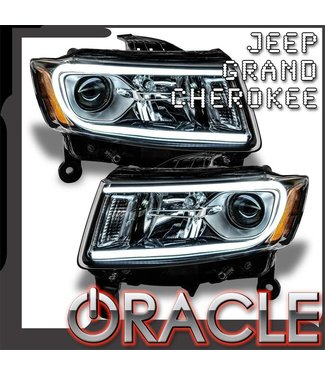 Oracle Lighting 2014-2015 Jeep Grand Cherokee Pre-Assembled Head Lights - (Non-HID)