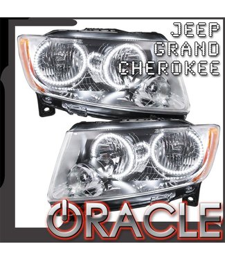 Oracle Lighting 2011-2013 Jeep Grand Cherokee Pre-Assembled Head Lights - (Non-HID) - Chrome