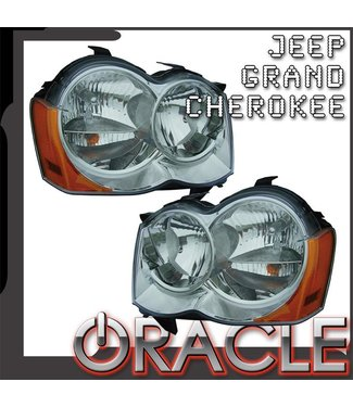 Oracle Lighting 2008-2010 Jeep Grand Cherokee Pre-Assembled Head Lights - (Non-HID)
