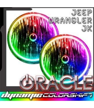 Oracle Lighting 2007-2016 Jeep Wrangler JK Pre-Assembled Head Lights - Dynamic ColorSHIFT
