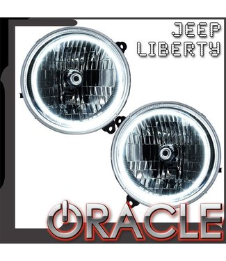Oracle Lighting 2005-2007 Jeep Liberty Pre-Assembled Head Lights - (no leveling)