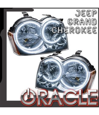 Oracle Lighting 2005-2007 Jeep Grand Cherokee Pre-Assembled Head Lights - (Non-HID) - Chrome