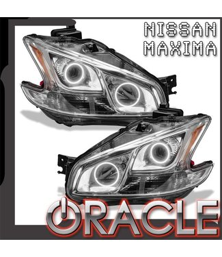 Oracle Lighting 2009-2013 Nissan Maxima Pre-Assembled Head Lights - (Non-HID) - Chrome