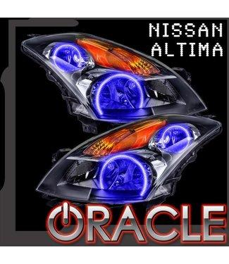 Oracle Lighting 2007-2009 Nissan Altima Sedan Pre-Assembled Head Lights - Black (Halogen)