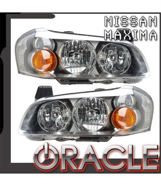 Oracle Lighting 2002-2003 Nissan Maxima Pre-Assembled Head Lights - With HID Bulbs/ Basts