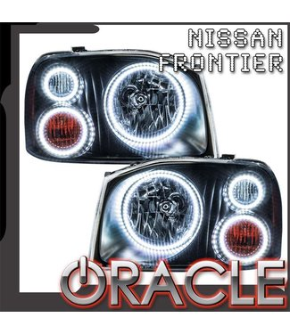 Oracle Lighting 2001-2004 Nissan Frontier Pre-Assembled Head Lights - Triple Halo