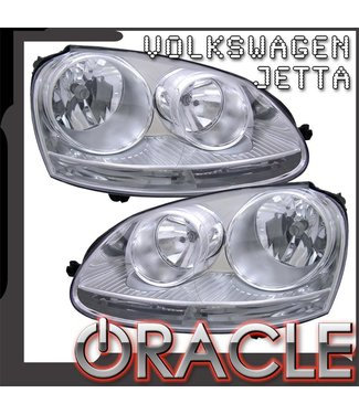 Oracle Lighting 2006-2010 Volkswagen Jetta Pre-Assembled Head Lights - Chrome