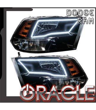 Oracle Lighting 2009-2017 Dodge Ram Sport Pre-Assembled Head Llights - Black