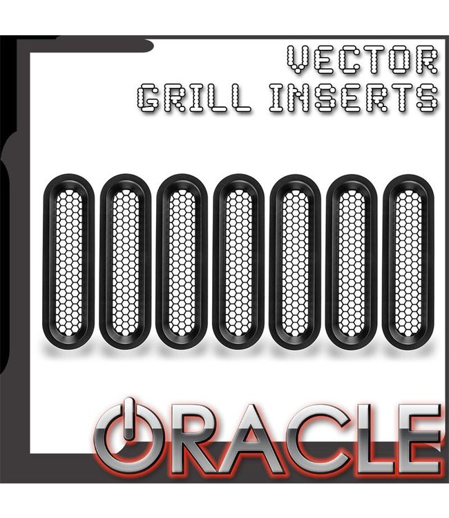 Oracle Lighting Vertical Mesh Inserts for ORACLE Vector Grill (JK Model Only)