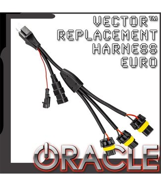 Oracle Lighting ORACLE Vector Replacement Headlight Wiring Harness (Pair) - Euro Model