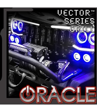 Oracle Lighting ORACLE Vector Jeep Wrangler JK Grill LED Halo Kit