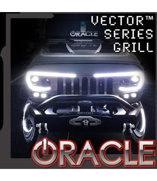 Oracle Lighting ORACLE Lighting VECTOR Series Full LED Grill - Jeep Wrangler JK