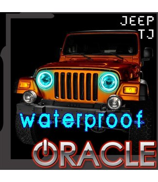 Oracle Lighting 1997-2006 - Jeep Wrangler TJ ORACLE LED Head Light Halo Kit - Waterproof