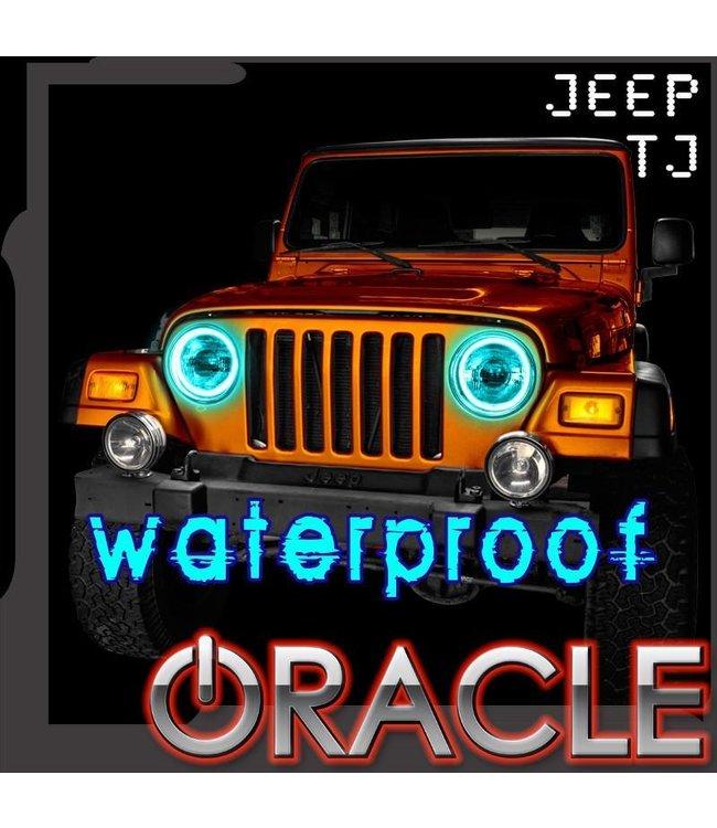 Oracle Lighting 1997-2006 - Jeep Wrangler TJ ORACLE LED Head Light Halo Kit - Waterproof