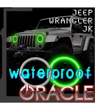 Oracle Lighting 2007-2017 Jeep Wrangler JK ORACLE Head Light Halo Kit - Waterproof