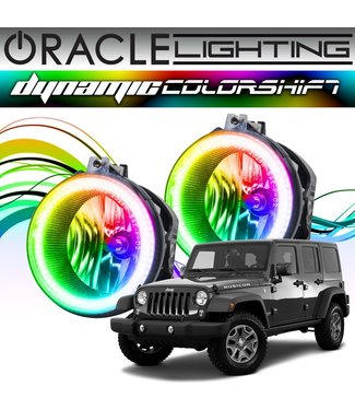 Oracle Lighting 2007-2017 Jeep Wrangler ORACLE Dynamic ColorSHIFT Fog Light Halo Kit