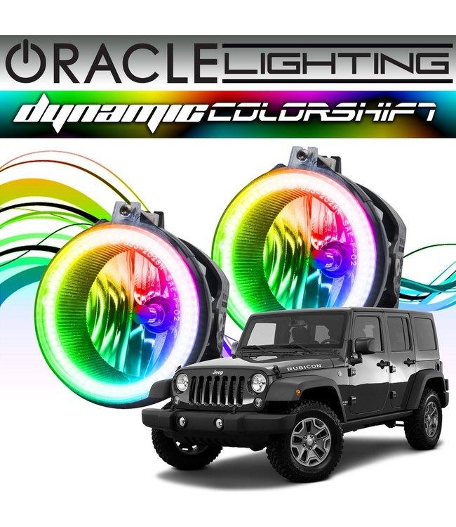Oracle Lighting 2007-2017 Jeep Wrangler ORACLE Dynamic ColorSHIFT Fog Light Halo Kit