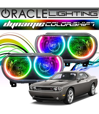 Oracle Lighting 2008-2014 Dodge Challenger ORACLE Dynamic ColorSHIFT Head Light Halo Kit