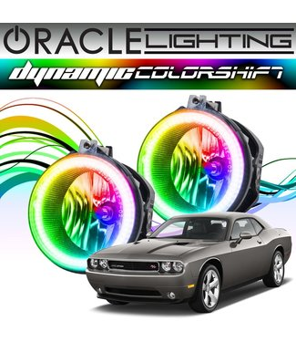 Oracle Lighting 2008-2014 Dodge Challenger ORACLE Dynamic ColorSHIFT Fog Light Halo Kit