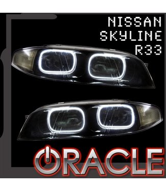 Oracle Lighting 1993-1997 Nissan Skyline R33/GTR Zenki ORACLE LED Halo Kit
