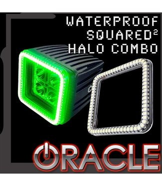 "Oracle Lighting ORACLE Waterproof 3"" Squared Halo w/ 20W LED Spotlight"