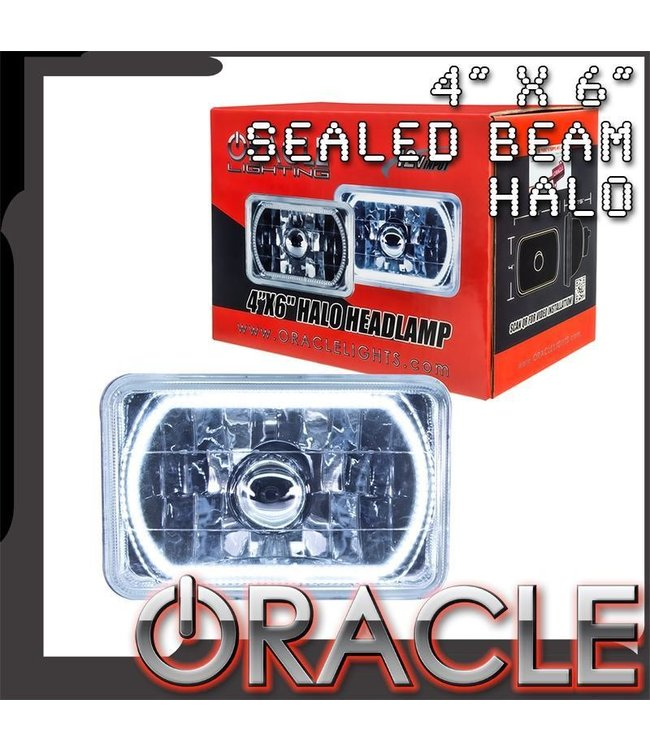 "Oracle Lighting ORACLE Pre-Installed 4"" x 6"" Sealed Beam Halo"