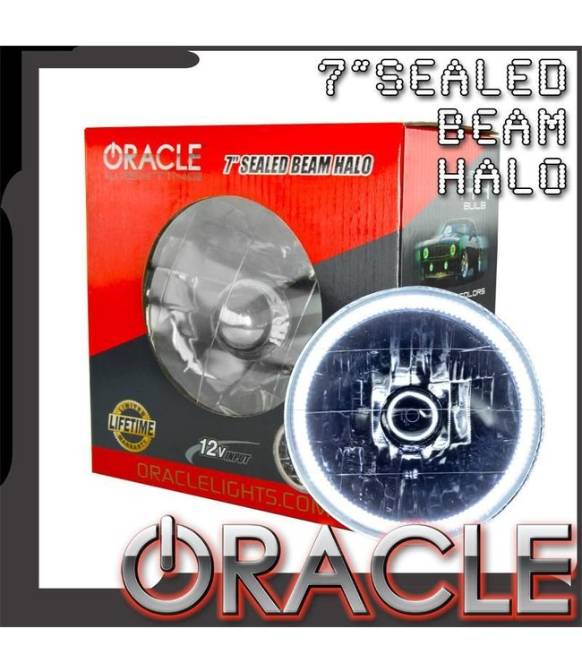 "Oracle Lighting ORACLE Pre-Installed Lights 7"" Sealed Beam Halo"