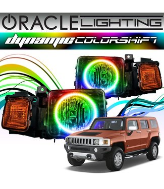 Oracle Lighting 2005-2010 Hummer H3 ORACLE Dynamic ColorSHIFT Head Light Halo Kit