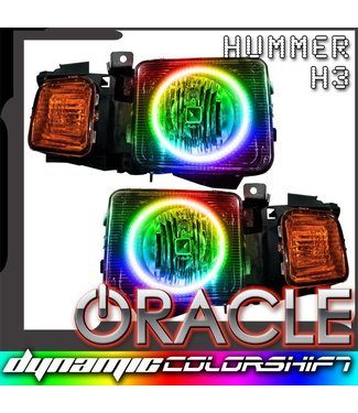 Oracle Lighting 2006-2010 Hummer H3 ORACLE Pre-Assembled Headlights - Dynamic ColorSHIFT
