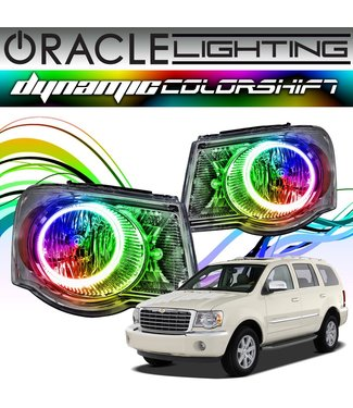 Oracle Lighting 2007-2009 Chrysler Aspen ORACLE Dynamic ColorSHIFT Head Light Halo Kit