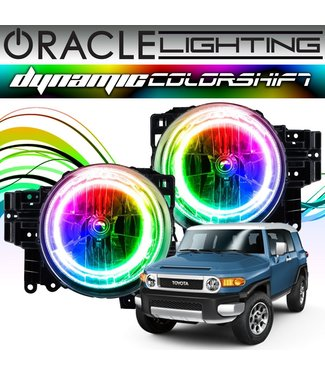 Oracle Lighting 2007-2014 Toyota FJ Cruiser ORACLE Dynamic ColorSHIFT Head Light Halo Kit