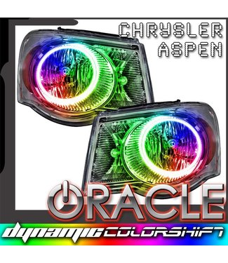 Oracle Lighting 2007-2009 Chrysler Aspen ORACLE Pre-Assembled Headlights - Dynamic ColorSHIFT