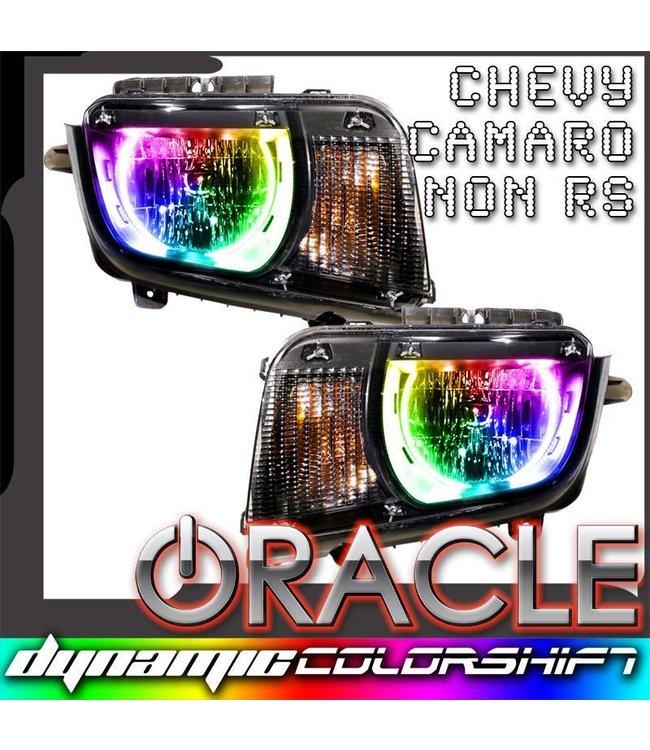 Oracle Lighting 2010-2013 Chevrolet Camaro Non RS ORACLE Pre-Assembled Headlights - Dynamic ColorSHIFT