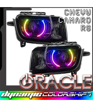 Oracle Lighting 2010-2013 Chevrolet Camaro RS ORACLE Pre-Assembled Headlights - Dynamic ColorSHIFT