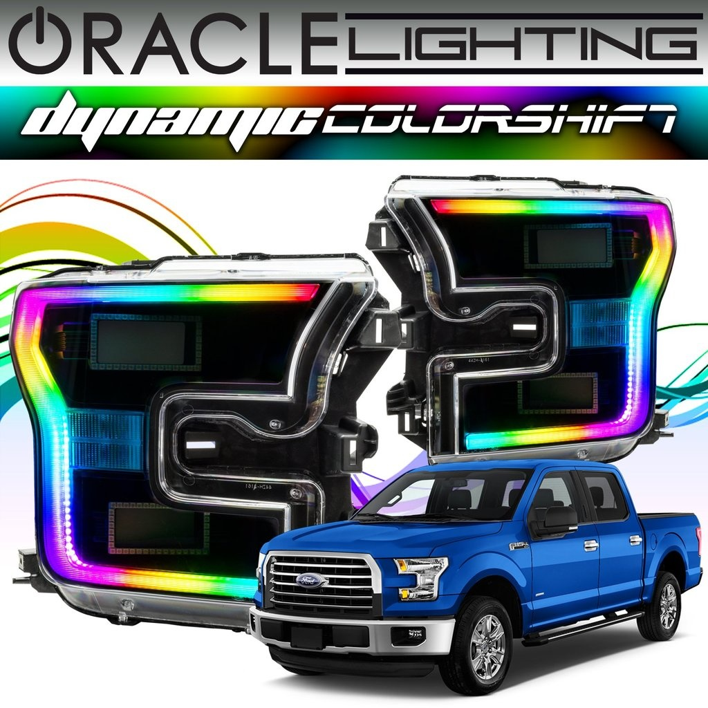 2017 Ford F150 Oracle Dynamic Colorshift Drl Halo Kit