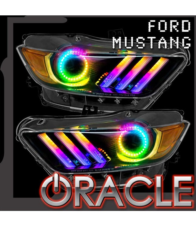 Oracle Lighting 2015-2017 Ford Mustang V6/GT/Shelby ORACLE Dynamic ColorSHIFT DRL + Halo Kit
