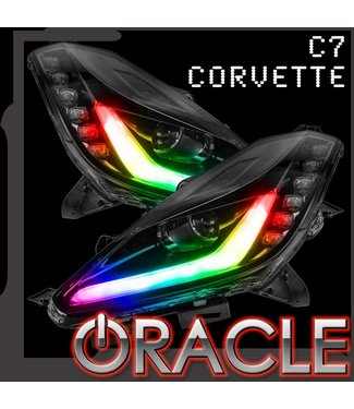 Oracle Lighting Chevy Corvette C7 ORACLE Dynamic ColorSHIFT DRL w/ Switchback Turn Signals