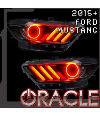 Oracle Lighting 2015-2017 Ford Mustang V6/GT/Shelby ORACLE ColorSHIFT + DRL LED Halo Kit