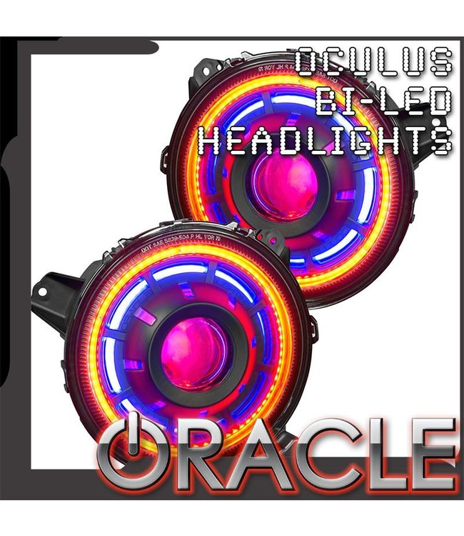 Oracle Lighting ORACLE Oculus™ ColorSHIFT Bi-LED Projector Headlights for Jeep JL / JT